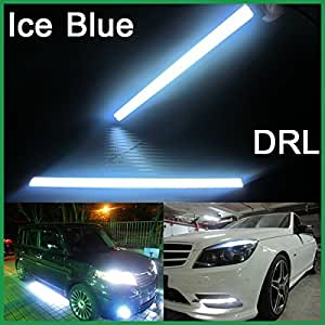 A Pair of Waterproof LED Day Time Running (DRL) Lights, 17 cm (Ice Blue)