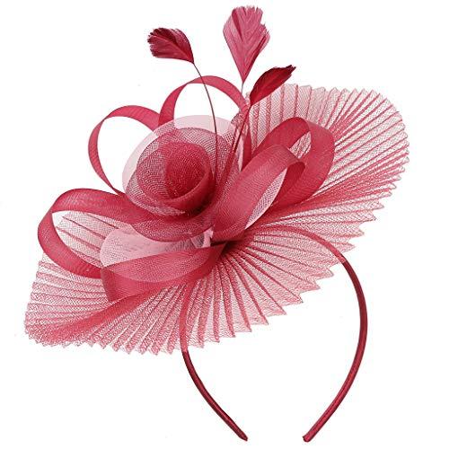 HAUXIN Stirnband Damen Elastische Blume Gedruckt Stirnbänder Headbands für Sport oder Alltag Haarreife Haarband Stirnband Satin Frauen Baumwolle Verdrehte Weiche Turban-Kopf-Verpackungs Halter -