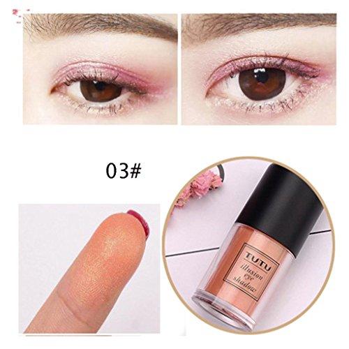 Fards à Paupière, YUYOUG Ombre à paupières cosmétique Poudre à paupières Makeup Pro Glitter (C)