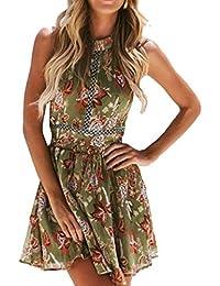 e57f9f50b OPAKY Vestido Mujer de Encaje Corto Vestido de Fiesta Moda para Mujer Sexy  Bohemia Fuera del Hombro Vestido de…