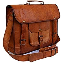 "Znt Bags Original Leather Laptop Bag/Bagpack/Satchel Messenger Bag/Office Bag/Briefcase for Men/Women/Ladies/Boy/Boys/Girl/Girls/Gents/Ladies/Unisex for School/College/Daily Use/Laptop/Sling/Messenger/Cross-Body/Shoulder/Side Bags - 15"" (Brown)"