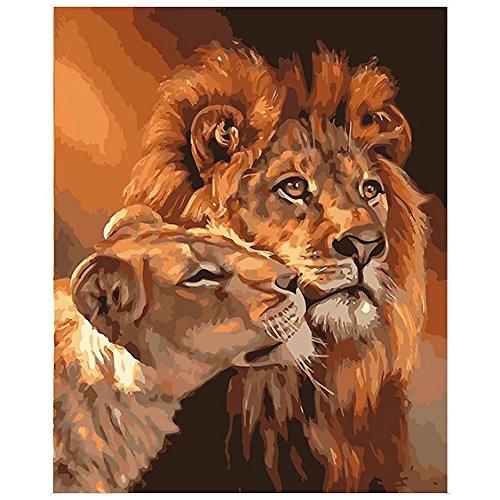Anzahl über 40 Bilder für ausgewählte Home Wall Pic mit DIY montieren Holzrahmen für Erwachsene und Kinder spielen, zeichnen, malen und für Wert Geschenk-The Lion Liebhaber MAETEK (Lions Den Erwachsenen)