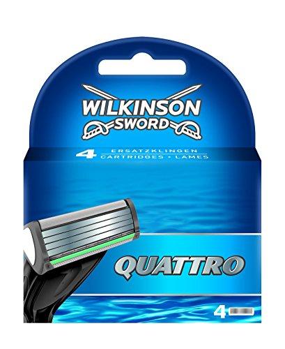 Wilkinson Sword Quattro - Cargador Recambio Cuchillas
