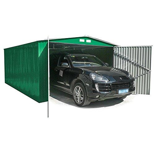 Newsbenessere.com 51FcVoRpDFL Box Casetta Garage in lamiera zincata giardino esterno 380x540xh232cm GARAGE XXL