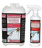 CleanPrince 2,5 Litros Invernadero y Toldo Limpiacristales: limpieza Tiras de lluvia Nicotina Depósitos Cristal superficies lisas Frentes Escaparte Toldos Limpiacristales Plástico Madera Metal