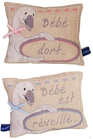 Vervaco Sleeping/Awake Goose Counted Cross Stitch Kit, Multi-Colour