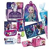 Disney Frozen Eiskönigin 16 Teile Schulranzen HA pink RANZEN Tornister SCHULTÜTE 85 FEDERMAPPE Set