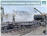 Trumpeter 00221 Modellbausatz Schwere Plattformwagen Type SSyms 80