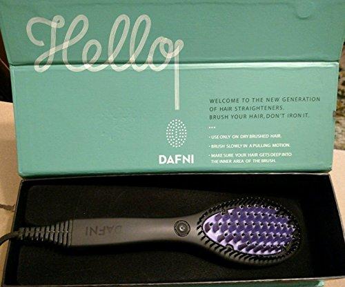 Dafni-Brosse lissante pour cheveux avec surface en céramique 3D de haute qualité et poils souples pour protéger le cuir chevelu-100 % originale