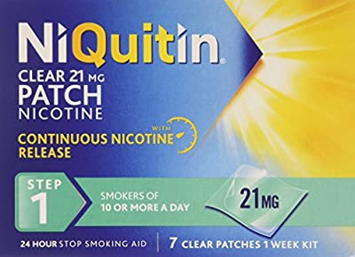 NiQuitin 21mg Clear 24 Hour 7 Patches Step 1 from Niquitin
