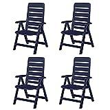 4 Kettler Nizza Gartenstühle Gartenmöbel Sessel Klappsessel in blau