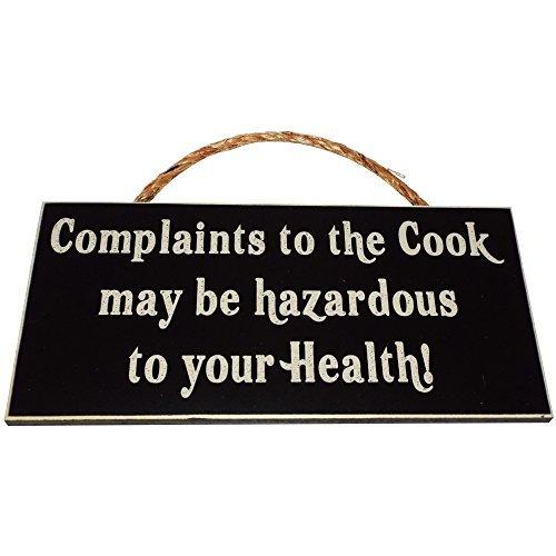ook kann gefährlich sein, auf Ihre Gesundheit. Holz Zeichen für Home Décor und Küche Wand Dekor --Perfekt Funny Chef Einzugs Geschenk. ()