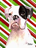 Caroline 's Treasures rdr3002gf Cooper Candy Stripe Boxer Weihnachten Flagge, klein, Multicolor