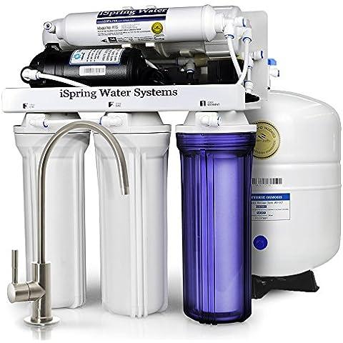 iSpring 75GPD Sistema Filtrazione Acqua 5 Fasi