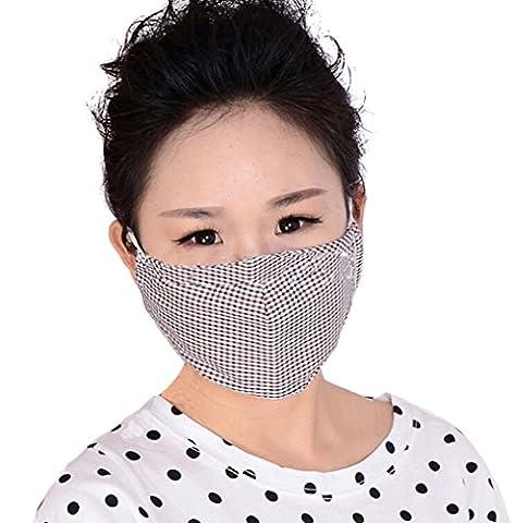 Masque adulte anti-poussière, anti-pollution, anti-pollen et anti-bactérien Lavable en machine Filtre actif Boucles de fixation aux oreilles