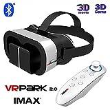 UrChoiceLtd® 2017 Virtuelle Realität VRPARK V5 VR 3D-Telefon-Fernseh video Brillen helm + Bluetooth Gamepad für 4,0-6,0 Zoll Mobiltelefon Smartphones