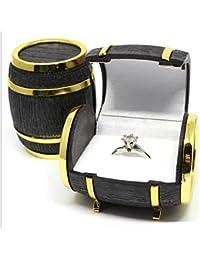 Yeah67886 Velvet Jewelry Beer Barrel Box Rings Earrings Case Gift box
