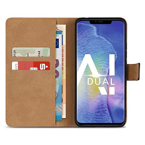 Handy Hülle Leder für Apple iPhone XS Max Xr X Huawei P20 Lite Pro Mate 10 20 Lite Pro P10 Lite für Samsung Galaxy S9 Plus / S9 Note 9 Flip Cover Tasche Book, Smartphone:Huawei Mate 20 Pro