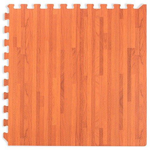 Wir verkaufen Mats Forest Boden Mahagoni Holzmaserung ineinandergreifende SCHAUMSTOFF hallenmatten 2'x2' Fliesen Grenzen (Böden Mahagoni)