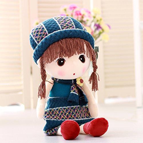 VERCART Puppe Tuch Doll Little Stuffed Spielzeug Interaktive Kinder Girl Junge Lernspielzeug Geburtstag Geschenk Grün 60cm