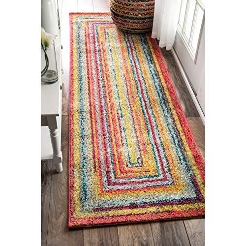 nuLOOM ECCR02A Hargis Labyrinth Läufer Teppich Modern 2' 6