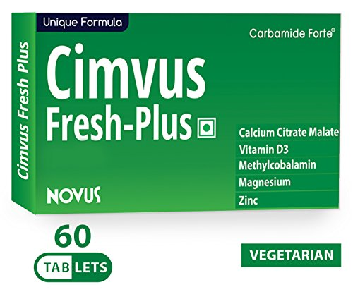 Carbamide Forte Cimvus Fresh-Plus Easily Absorbed Calcium + Extra Vitamin D3 & Vitamin B12 Supplements 60 Tablet