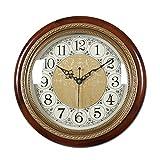 Vinteen Kontinentale Feste Hölzerne Einzelne Seitenwand-Uhr-Reine kupferne Stadthaus-Zeitmesser und Horologe Kreatives Taschen-Uhr-Wohnzimmer-Schlafzimmer-Stille Wanduhr