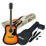 Ibanez V50NJP-VS Jampack Westerngitarrenset Vintage Sunburst mit Zubehör