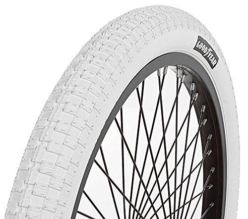 Goodyear BMX bicicleta plegable Bead neumático, Unisex, blanco