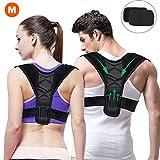 Gifort Geradehalter zur Haltungskorrektur, Schulter Rücken Haltungsbandage verstellbare Größe Rückenbandage für Herren und Damen (Style 1-M)