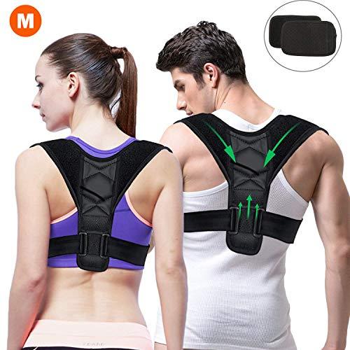 Gifort Haltungstrainer, Geradehalter zur Haltungskorrektur für eine Gesunde Haltung, ideal zur Therapie für haltungsbedingte Nacken, Rücken und Schulterschmerzen (M Size: 80-105cm)
