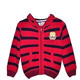 #1: AMERICAN EYE Knitted FULL SLEEVE Regular Fit FULL ZIPPER HOOD BOYS SWEATER 1641-111RED