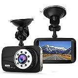 Auto Dash Cam – Full HD 1080p Dash Cam 170 ° Weitwinkel 7,6 cm LCD in Auto Armaturenbrett Kamera DVR Video Recorder mit G-Sensor, WDR & Nachtsicht, Bewegungserkennung (Schwarz)