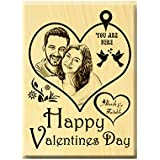 Incredible Gifts Valentine's Day Engraved Photo Plaque (5x4 inches) Steam Beech