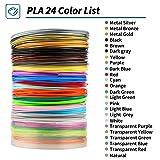 3D Stift Filament 3D Druckmaterialien 24 Farben 3M PLA Filament 1.75mm für 3D Stift 3D Pen von MKOEM