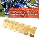 Footprintse Universal-Aluminium-Motorrad-Auspuff-Schalldämpfer-Rohr-Schutz-Hitze-Schild-Abdeckung (Farbe: Golden)