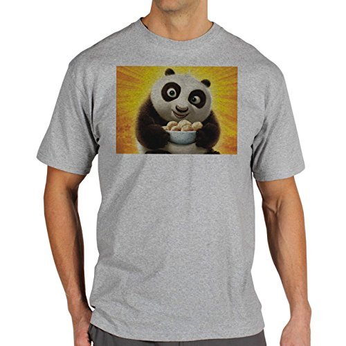 Kung Fu Panda Maxres Default Background Herren T-Shirt Grau