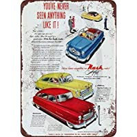 qidushop 1950 Nash Airflyte - Cartel Decorativo de Metal para Pared (30 x 45 cm), diseño de Nash Airflyte