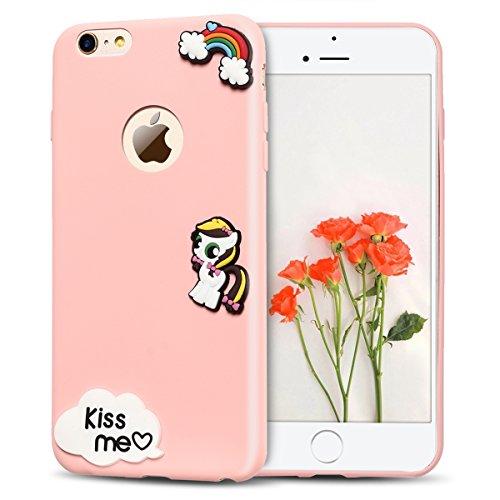 2x Morbido Apple iPhone 6 iPhone 6s (4.7 pollici) Custodia , SpiritSun Apple 6S TPU Custodia per iPhone 6 iPhone 6s Moda Flessibile Sottile Molle Custodia Silicone Morbido Copertura Leggero Protettiva Anguria + Cavallo