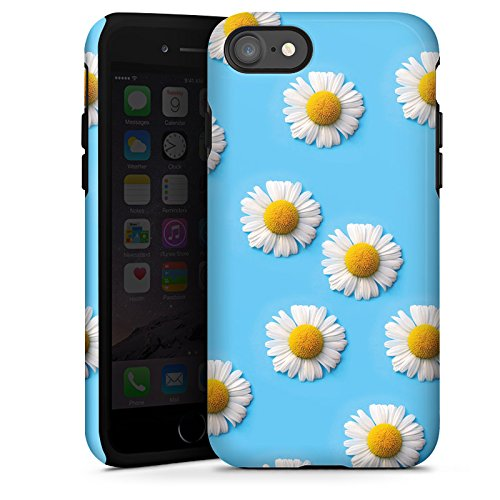 Apple iPhone X Silikon Hülle Case Schutzhülle Gänseblümchen Blumen Blüten Tough Case glänzend