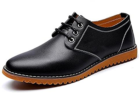 DADAWEN Homme Commercial style leather Oxford chaussure-Noir 46