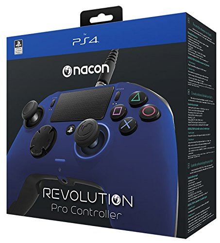 NACON PS4OFPADREVBLUE Gamepad PlayStation 4 Negro, Azul mando y volante – Volante/mando (Gamepad, PlayStation 4, Analógico/Digital, Hogar, Seleccionar, Share, Alámbrico, USB 3.0) 51FcjGas35L