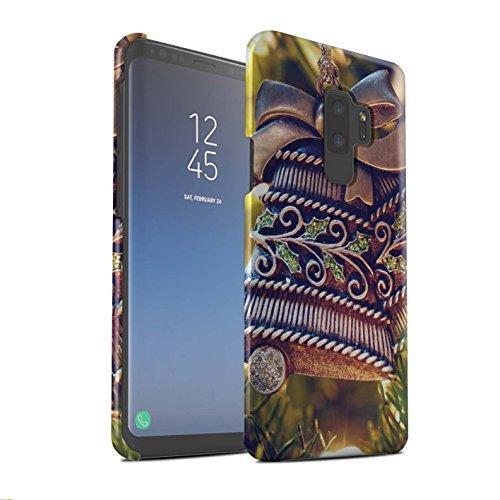 Stuff4® Matte Snap-On Hülle/Case für Samsung Galaxy S9 Plus/G965 / Messing Glocke Muster/Weihnachten Foto Kollektion Handy Messing