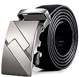 Rcool Männer Leder automatische Schnalle Gürtel Fashion Taille Gurt Gürtel Bund