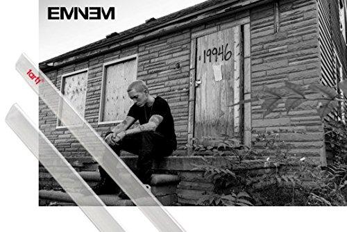 Poster + Sospensione : Eminem Poster Stampa (91x61 cm) The Marshall Mathers LP 2 E Coppia Di Barre Porta Poster Trasparente 1art1®
