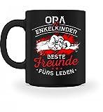 Hochwertige Tasse - Opa & Enkelkinder Beste Freunde fürs Leben - Geschenk für Opi, Großvater, Großvat zum Geburtstag, Vatertag oder Geburt einese Enkels