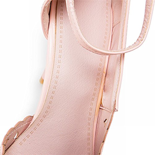 Mee Shoes Damen süß high heels Ankle strap Pumps Pink ZaDTqqlE
