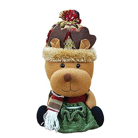 pomineer Weihnachten Candy Tasche Santa Claus Ornaments Xmas Decor Geschenke reh / hirsch