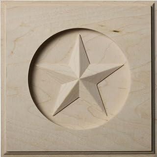 Ekena Millwork ROS06X06AUAL Austin Star Rosette, 6-Inch x 6-Inch x 1-Inch, Alder by Ekena Millwork