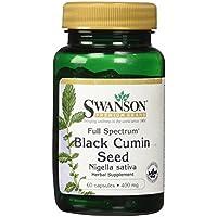 Swanson - Comino Negro (Semillas de Nigella Sativa) 400mg, 60 Cápsulas (Full Spectrum® Black Cumin Seed Capsules)